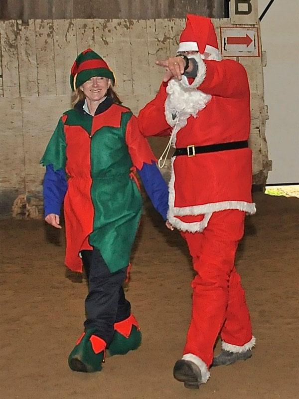 Father Christmas and Elf