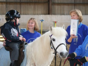 Child riding in RDA session