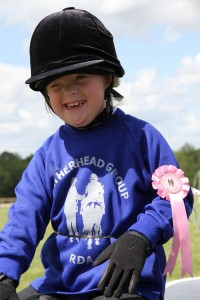 Winning a rosette at SE Region Fun Day