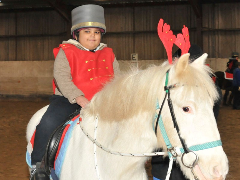Toy Soldier on pony